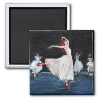 The Red Shoes Square Magnet