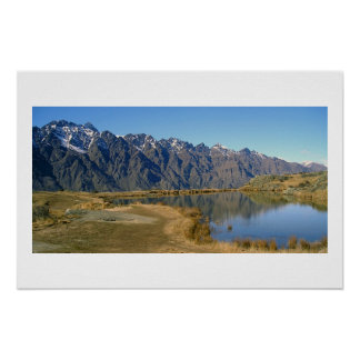 The Remarkables, Queenstown, New Zealand Poster