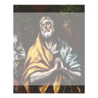 The Repentant Saint Peter by El Greco Custom Flyer