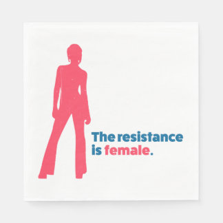 The resistance is female. paper napkin