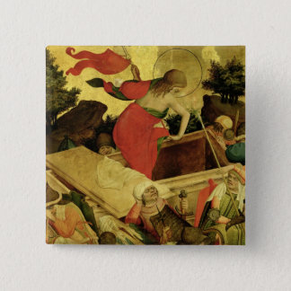 The Resurrection, panel from St. Thomas Altar 15 Cm Square Badge