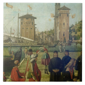 The Return of the Ambassadors, from the St. Ursula Tile