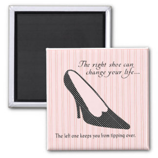 The Right Shoe Square Magnet