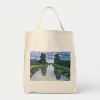 The River at Berville by Felix Vallotton Tote Bag