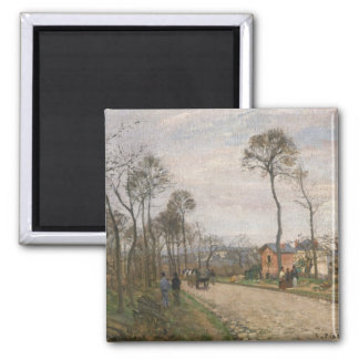 The Road from Louveciennes, 1870 Magnet