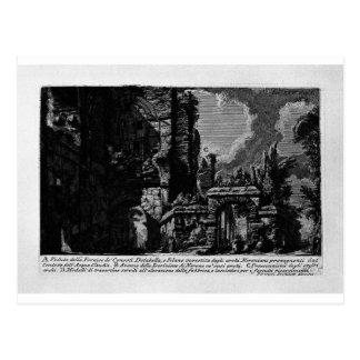 The Roman antiquities, t. 1, Plate XXV. Nero`s aqu Postcard