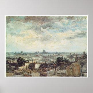 The Roofs of Paris, Vincent Van Gogh Poster