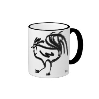 The Rooster in Chinese astrology. Ringer Coffee Mug