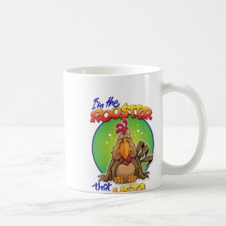 The Rooster that Usta Basic White Mug