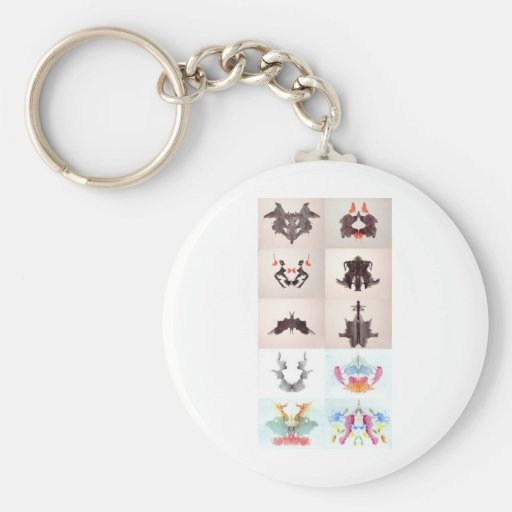 The Rorschach Test Ink Blots All 10 Plates 1-10 Basic Round Button Key Ring