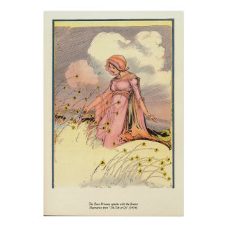 The Rose Princess speaks with the flowers Posters