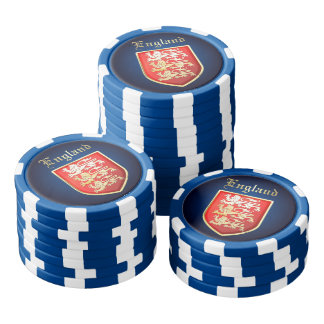 The Royal Crest Of England Poker Chips