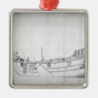 The Royal Yacht 'Mary' Silver-Colored Square Decoration