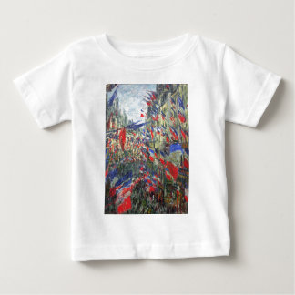 The Rue Montargueil with Flags by Claude Monet Baby T-Shirt