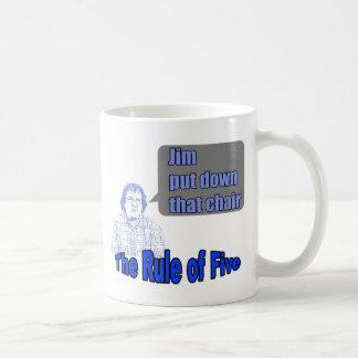 The Rule of Five Coffee Mug