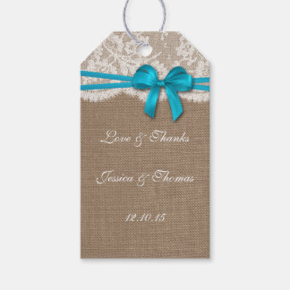 The Rustic Blue Bow Collection Tags