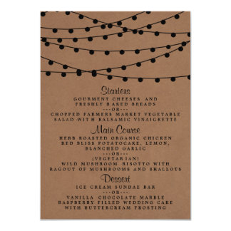The Rustic Kraft String Lights Wedding Collection Card