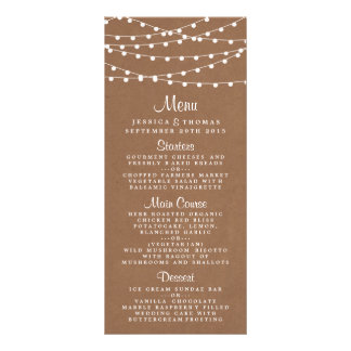 The Rustic Kraft String Lights Wedding Collection Rack Cards