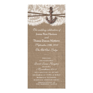 The Rustic Nautical Anchor Wedding Collection Custom Rack Cards