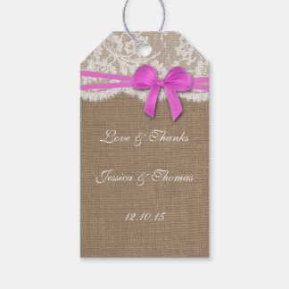 The Rustic Pink Bow Collection Tags