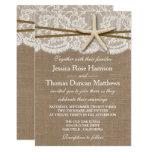 The Rustic Starfish Beach Wedding Collection 13 Cm X 18 Cm Invitation Card