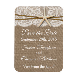 The Rustic Starfish Beach Wedding Collection Magnet