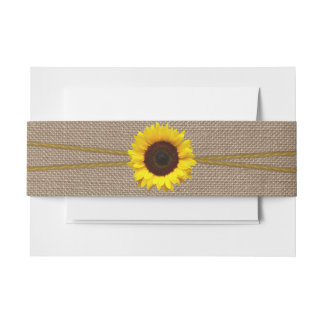 The Rustic Sunflower Wedding Collection Invitation Belly Band