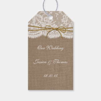 The Rustic Twine Bow Wedding Collection Gift Tags