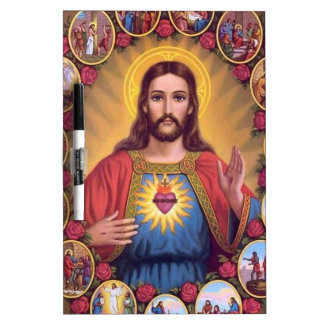 The Sacred Heart Of Jesus Dry Erase White Board