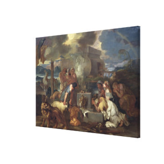 The Sacrifice of Noah, c.1640 Canvas Print