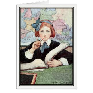 The Scholar by Jessie Willcox Smith Card