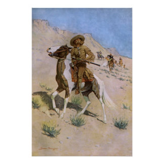 The Scout by Remington Vintage Cavalry Cowboys Posters