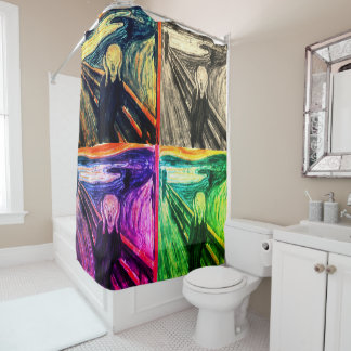 The Scream by Edvard Munch Shower Curtain