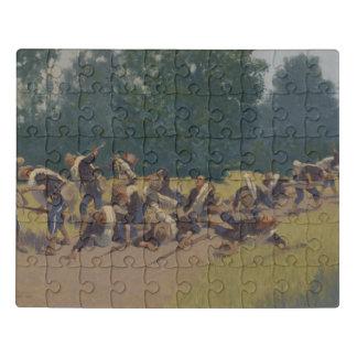 The Scream of Shrapnel at San Juan Hill Jigsaw Puzzle