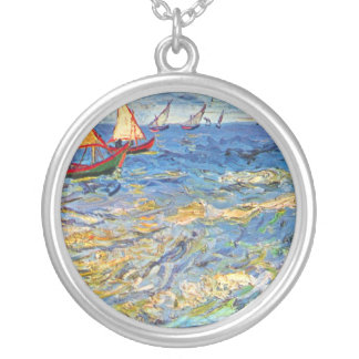 The sea at Saintes-Maries by Vincent van Gogh Custom Jewelry