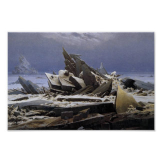 The Sea of Ice by Caspar David Friedrich Poster