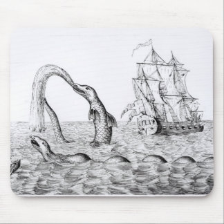 The Sea Serpent Mouse Pad