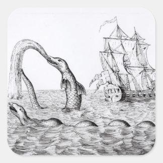 The Sea Serpent Square Sticker