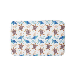 The Sea Turtle Pattern Bath Mat