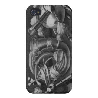 The Seasons' tapestry, border, music instruments iPhone 4/4S Cases