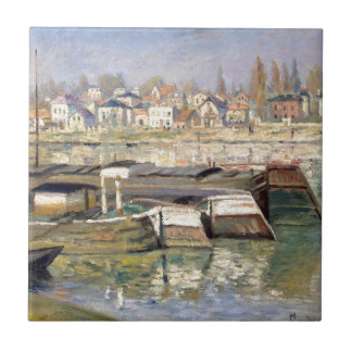 The Seine at Asnieres by Claude Monet Tile