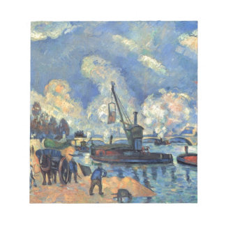 The Seine at Bercy by Paul Cezanne Notepad
