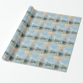 The Seine at Rouen by Claude Monet Wrapping Paper