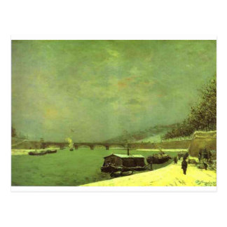 The Seine at the Pont d'Iena by Paul Gauguin Postcard