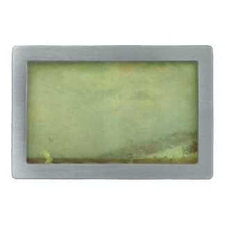 The Seine at the Pont d'Iena by Paul Gauguin Rectangular Belt Buckle