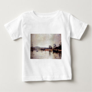 The Seine Below Rouen by Claude Monet Baby T-Shirt