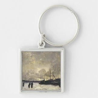 The Seine in December, 1879 Key Ring