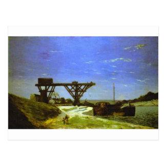 The Seine in Paris by Paul Gauguin Postcard