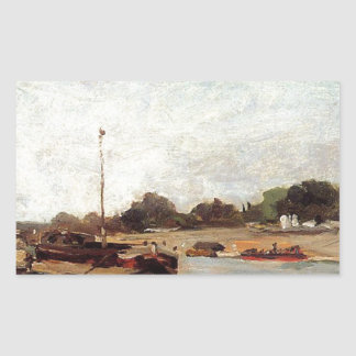 The Seine opposite the wharf de passy Paul Gauguin Rectangular Sticker