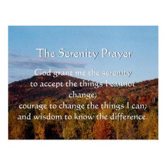 The Serenity Prayer autumn postcard